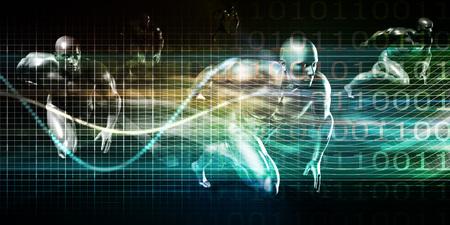 Modern Wireless Technology and Social Network Technologies Concept