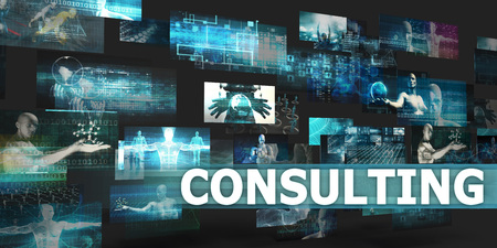 Consulting Presentation Background with Technology Abstract Art Lizenzfreie Bilder