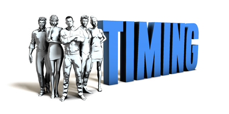 Timing Business Concept as a Presentation Background
