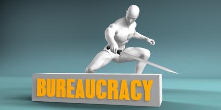 Cutting Bureaucracy and Cut or Reduce Concept Lizenzfreie Bilder