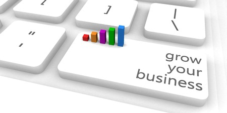 Grow Your Business or Startup as Concept Lizenzfreie Bilder