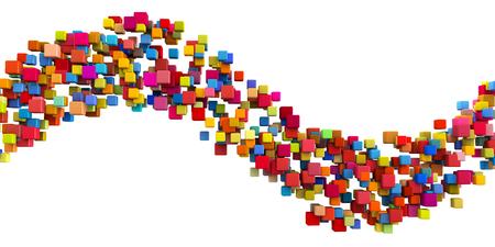 Abstract Rainbow Design on White Background Art Stock Photo
