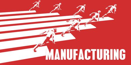 pessoas: Fabricação com pessoas de negócios que correm em um caminho