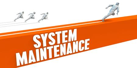express lane: System Maintenance Express Lane with Business People Running