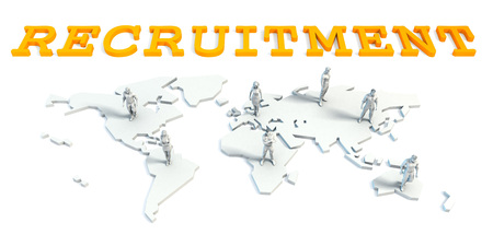 Recruitment Concept with a Global Business Team