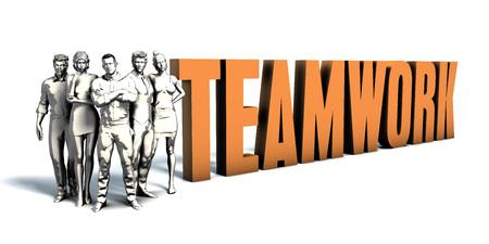Tým podnikatelů zaměřený na zlepšování týmové práce jako koncepce