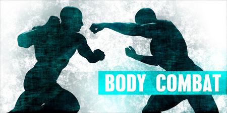 Body combat Martial Arts Self Defence Training Concept Stock Photo
