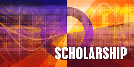 Scholarship Focus Concept on a Futuristic Abstract Background