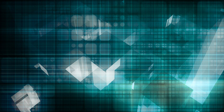 Digital Signal Technology Abstract as Pattern Art