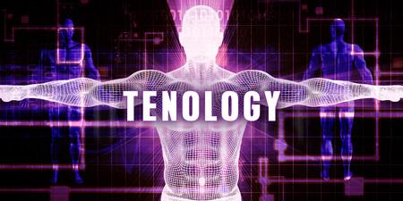 Tenology as a Digital Technology Medical Concept Art 写真素材