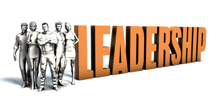 fostering: Business People Team Focusing on Improving Leadership as a Concept Stock Photo