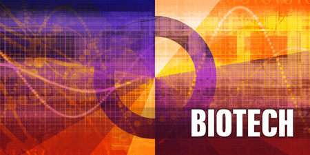 Biotech Focus Concept on a Futuristic Abstract Background