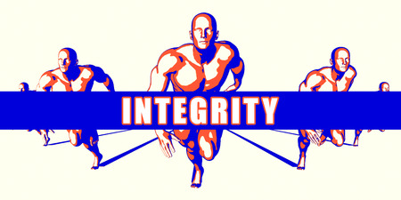 Integrity as a Competition Concept Illustration Art