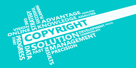 Copyright Presentation Background in Blue and White