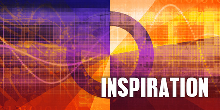 Inspiration Focus Concept on a Futuristic Abstract Background