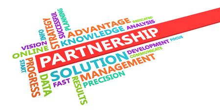 Partnership Word Cloud Concept Isolated on White Lizenzfreie Bilder