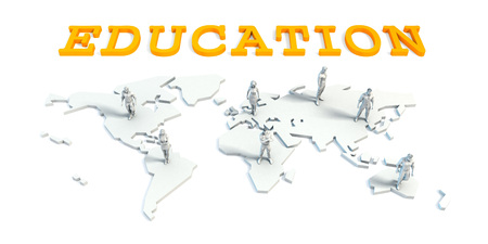 Education Concept with a Global Business Team