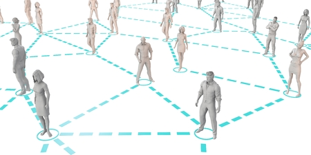 Social Networking People as a Business Concept Lizenzfreie Bilder
