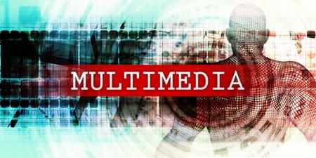 Multimedia Sector with Industrial Tech Concept Art Lizenzfreie Bilder