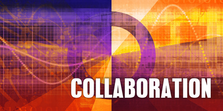 Collaboration Focus Concept on a Futuristic Abstract Background