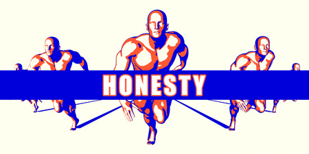 Honesty as a Competition Concept Illustration Art