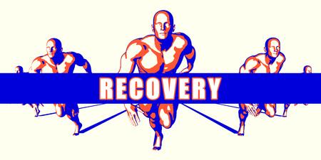Recovery as a Competition Concept Illustration Art Lizenzfreie Bilder