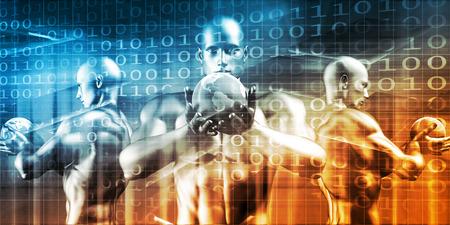 Digital Technology Concept as a Virtual Background Lizenzfreie Bilder