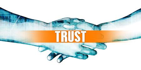 Trust Concept with Businessmen Handshake on White Background