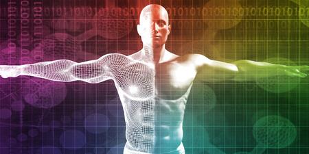 Research and Development on Body Science Healthcare as Concept Lizenzfreie Bilder