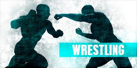 Wrestling Martial Arts Self Defence Training Concept