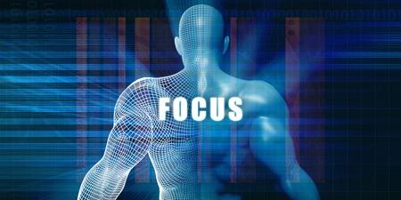 Focus as a Futuristic Concept Abstract Background Lizenzfreie Bilder