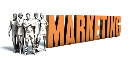 marketing concept: Business People Team Focusing on Improving Marketing as a Concept