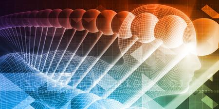 Scientific Research and Anatomy Technology Concept Art Lizenzfreie Bilder