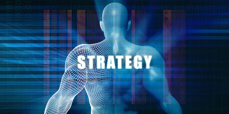 Strategy as a Futuristic Concept Abstract Background
