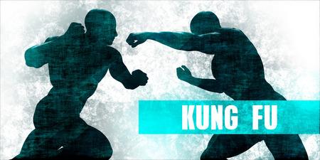 Kung fu Martial Arts Self Defence Training Concept