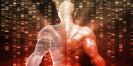 Genetic Research and Testing Development Science Concept