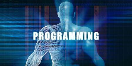 Programming as a Futuristic Concept Abstract Background