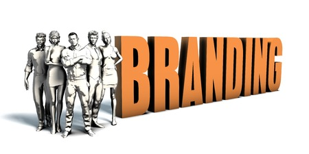 Business People Team Focusing on Improving Branding as a Concept