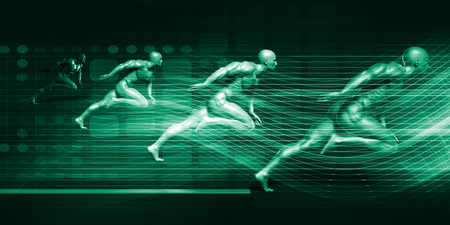 System Integration Technology Futuristic Platform Concept Art Stock Photo