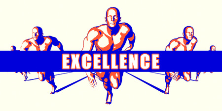 excellence: Excellence as a Competition Concept Illustration Art