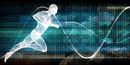 tracking: Fitness Technology and Sports Monitoring Data Concept Background