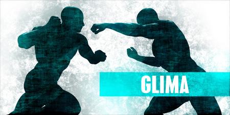 Glima Martial Arts Self Defence Training Concept Stock Photo