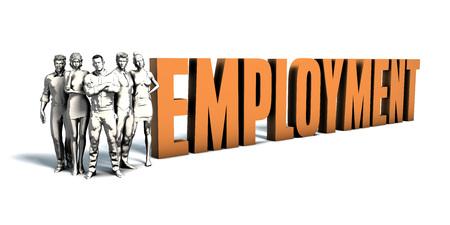Business People Team Focusing on Improving Employment as a Concept Reklamní fotografie