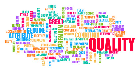 Quality Word Cloud Concept on White