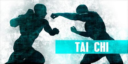 Tai chi Martial Arts Self Defence Training Concept