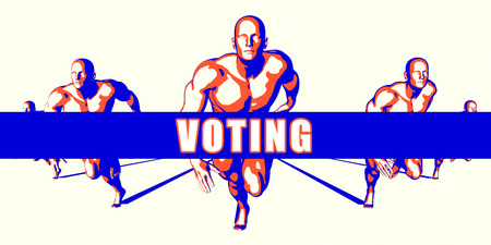 compete: Voting as a Competition Concept Illustration Art