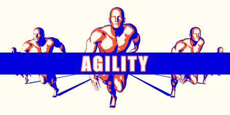 Agility as a Competition Concept Illustration Art