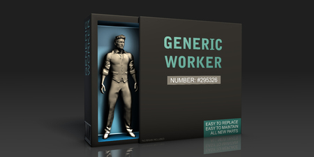 Generic Worker Employment Problem and Workplace Issues Stock Photo
