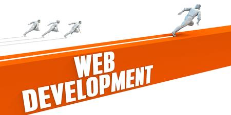 strategic advantage: Web Development Express Lane with Business People Running