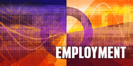 CHALLENGING: Employment Focus Concept on a Futuristic Abstract Background
